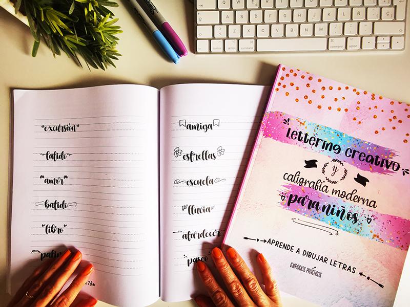 Libro lettering niños