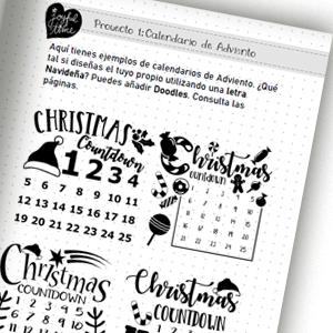 Lettering en Navidad para niños