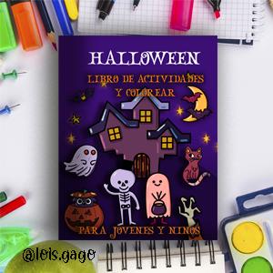 Halloween, libro de actividades y colorear para niños