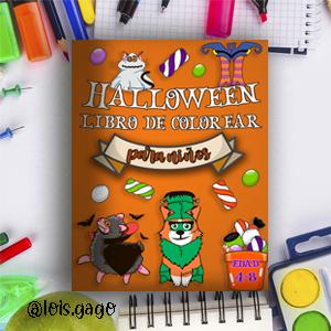 Libro divertido para colorear halloween para niños
